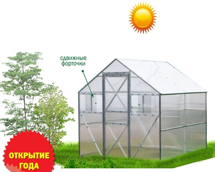 В такой теплице превосходно растут не только помидоры, огурцы и перцы, но и очень прихотливые в уходе теплолюбивые культуры