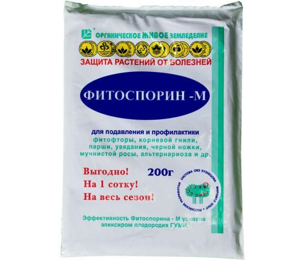 Довольно безопасны средства биологической защиты: Фитоспорин-М, Байкал-ЭМ-1-у, Трихофит