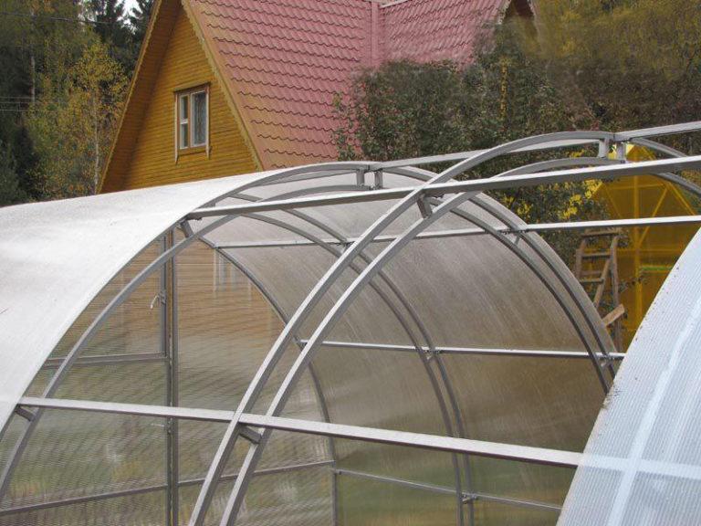 Удвоенные несущие арки конструкции прошли испытания: она выстоит под ураганным ветром, выдержит толстый слой снега