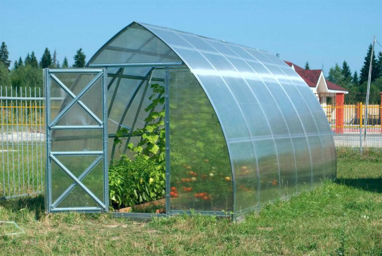 При изготовлении теплиц применяются листы сотового либо ячеистого поликарбоната