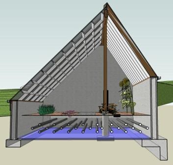 Теплица-термос предназначена для выращивания различных культур