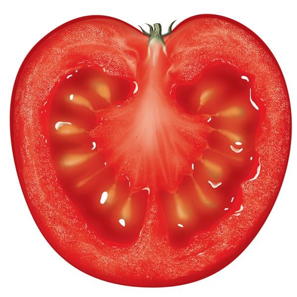 Отличительная особенность помидоров этого сорта заключается в ярко-красной сердцевине и прекрасном вкусе