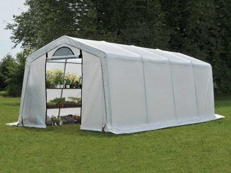 Теплица Shelterlogic предназначена исключительно для того, чтобы использовать ее весной и летом