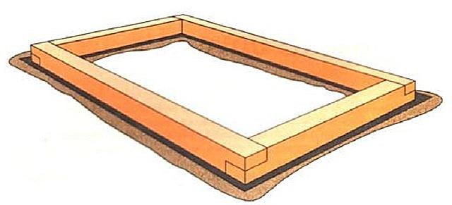 """Производитель советует устанавливать """"Нову"""" на бетонный фундамент или основание из бруса 100 х 100 мм"""