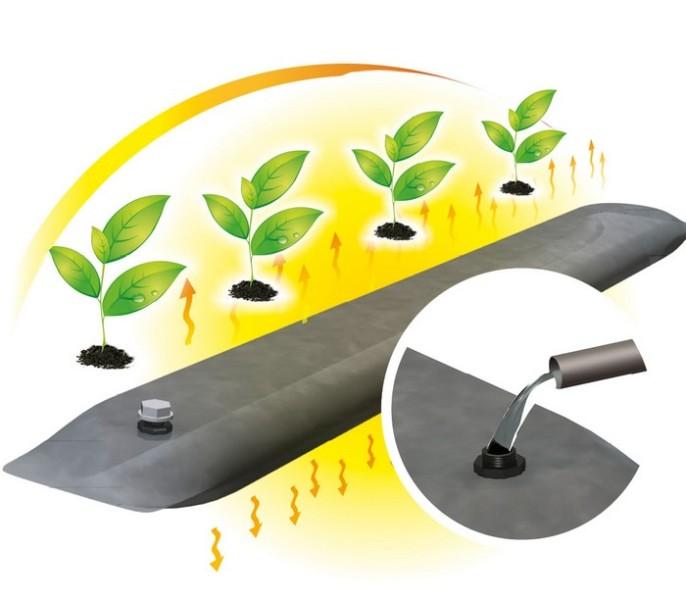 Современная промышленность выпускает аккумуляторы тепла для теплиц