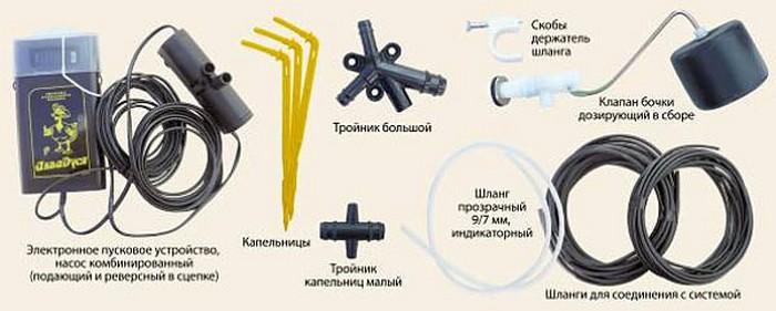 На сегодняшний день система выпускается в трех вариантах: для автоматического, полуавтоматического и неавтоматического полива растений