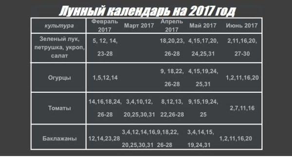 Огородник поэтапно определяет сроки высадки семян в апреле 2017 г.