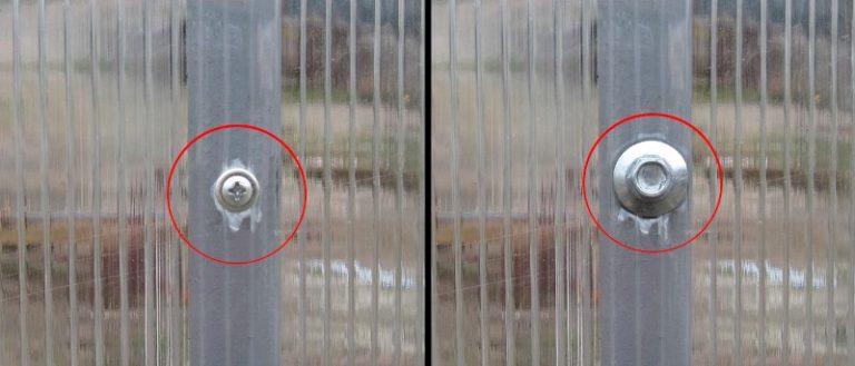 Этот метод крепления хорош тем, что он не деформирует материал и препятствует возникновению мостиков холода