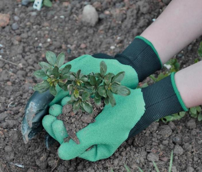 Перчатки Garden Genie обеспечивают комфортность работ в саду и на огороде