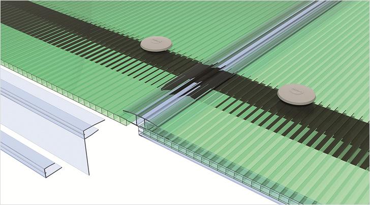 Рассчитать количество креплений можно после того, как будут уточнены параметры плоскости, которую планируется покрыть поликарбонатом