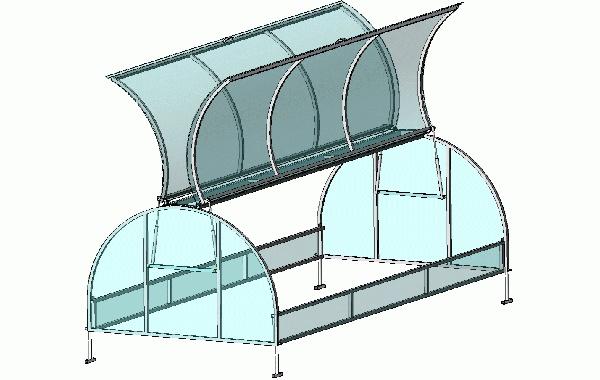 Парник из профильной трубы хлебница чертежи