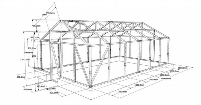 Перед возведением каркасов для парника потребуются чертежи с точными размерами, которых нужно придерживаться, чтобы конструкция была долговечной
