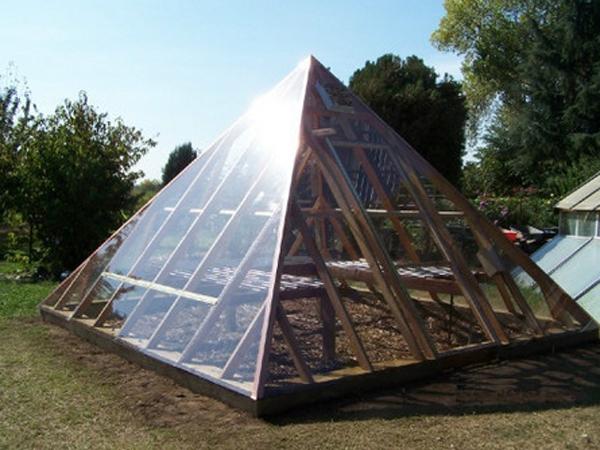 Пирамидальная теплица — это идея, которая впитала в себя рациональность в строительстве и максимальную эффективность в эксплуатации