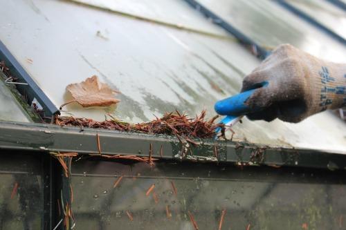 До наступления холодов следует уделить внимание и чистке покрытия теплицы
