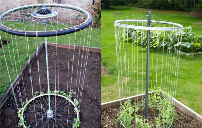 Вертикальное выращивание огурцов предполагает использование различных материалов для формирования грядок